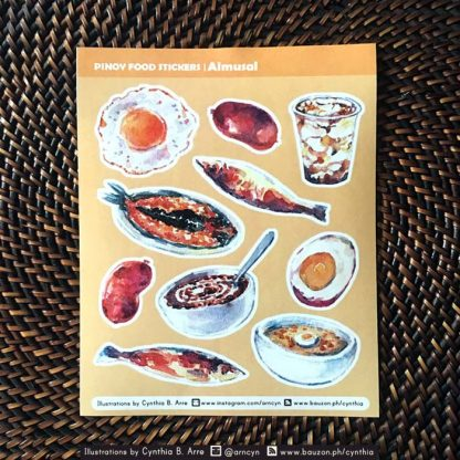 pinoy food almusal (breakfast) stickers