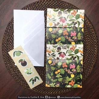 philippine fruits note cards