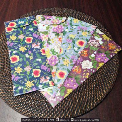 philippine flowers gift envelopes
