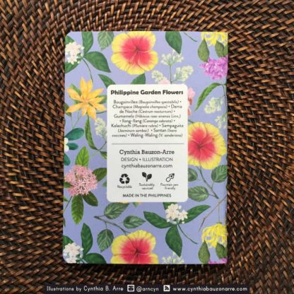 philippine garden flowers notebook