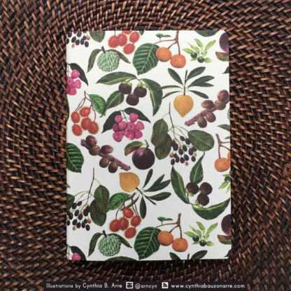 philippine fruits pocket notebook