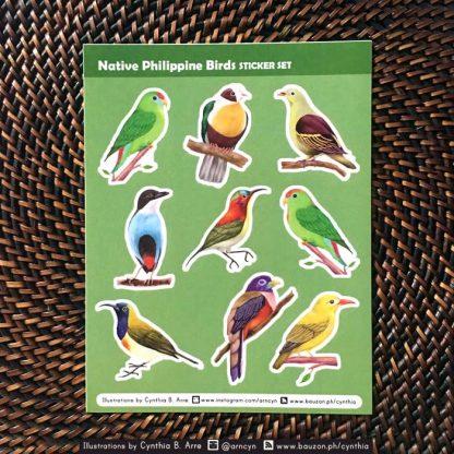 native philippine birds stickers
