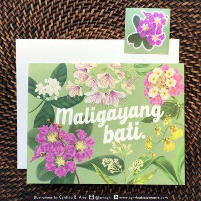 maligayang bati card