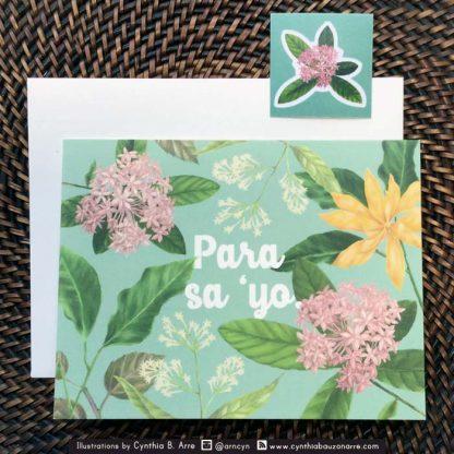 para sa iyo greeting card