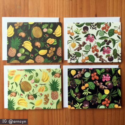 phiippine fruits note cards