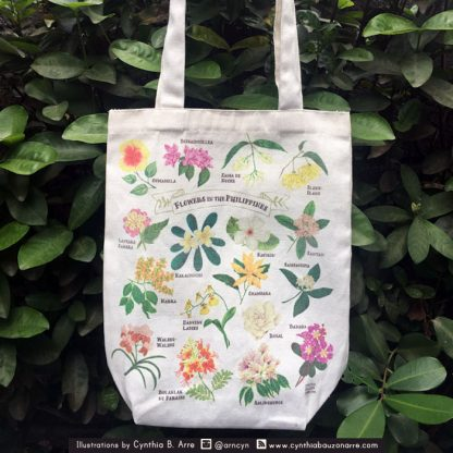 philippine flowers eco tote canvas bag