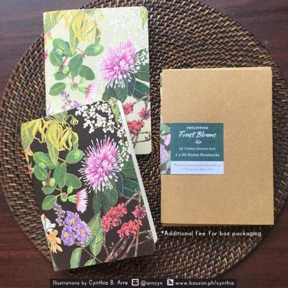 Philippine native tree flora notebooks kraft box packaiging