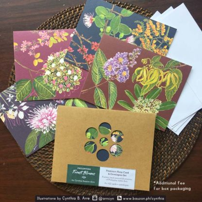 Philippine Native Tree Flora note card Kraft Box Packaging