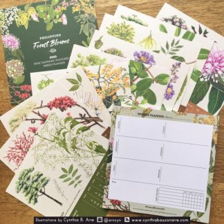 philippine forest blooms desk calendar and planner notepad set