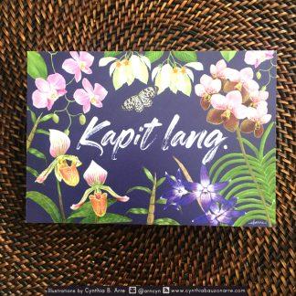 Philippine native flowers postcard