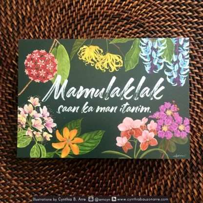 Philippine native flowers postcard