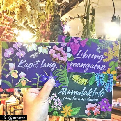 Philippine native flowers postcards
