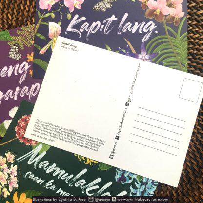 Philippine native flowers postcarda