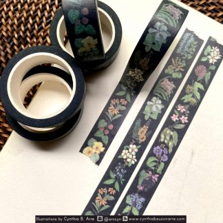 philippine native flora washi tape