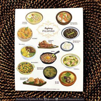 Pinoy Food postcard ulam