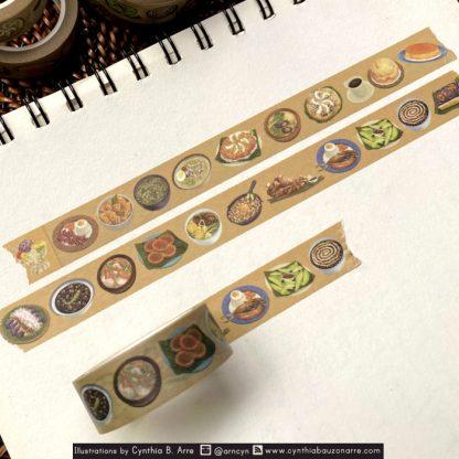 pilipino food washi tape