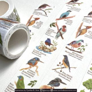 philippine native birds washi tape