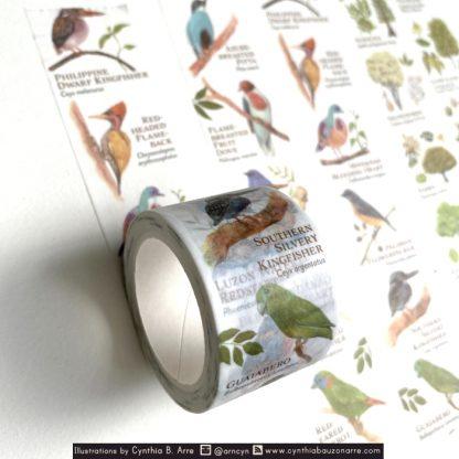 philippine native birds washi tape