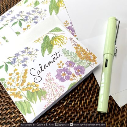 philippine native flowers note cards