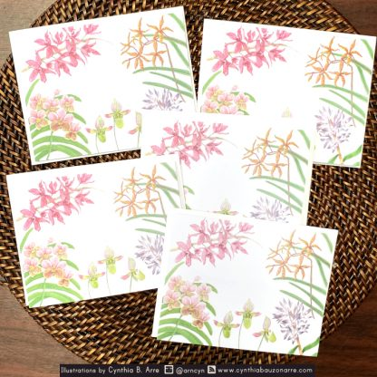 philippine native orchids note cards