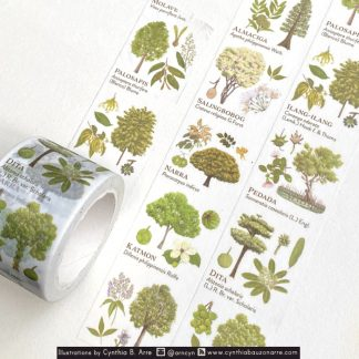 philippine native trees washi tape